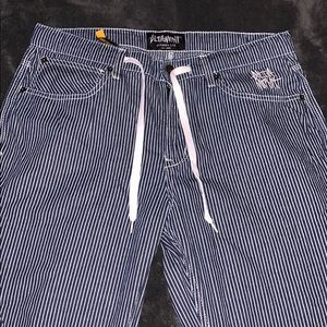 Men's Altamont blue and white striped pants